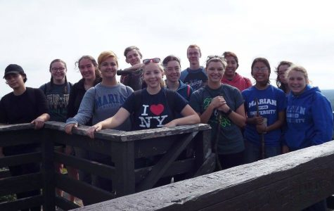 Group of students on a tower