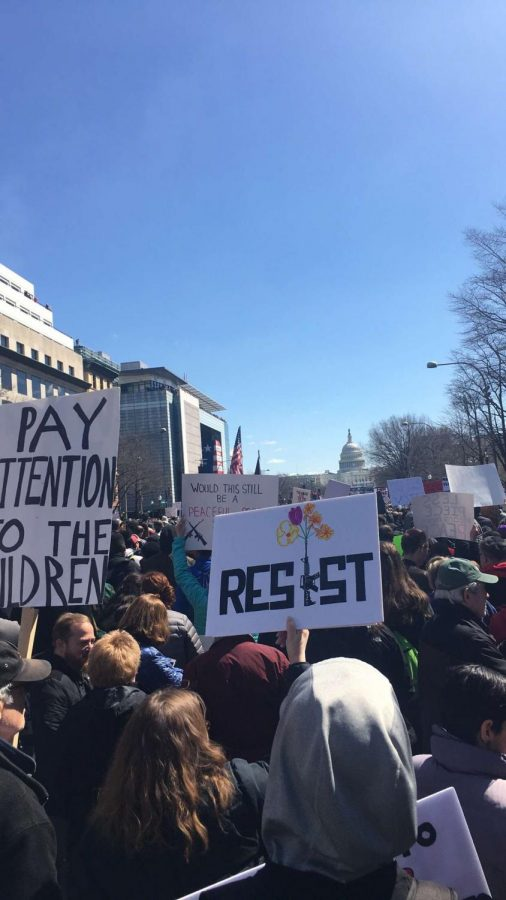 Students marching in Washington DC