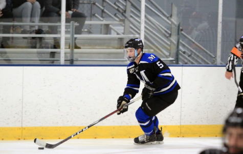Connor Martin is junior double majoring in Middle Secondary Education and English, and he is also a hockey player on Marian's ACHA team.