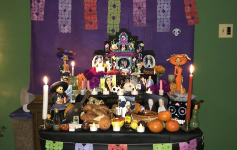 An ofrenda honoring a passed loved one for The Day of the Dead.