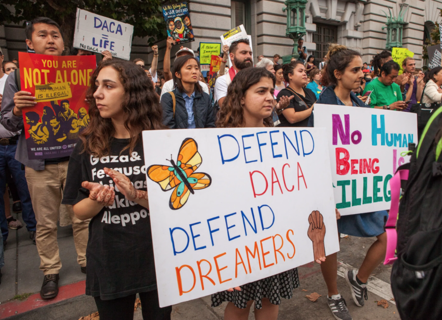 DACA supporters at a rally in San Francisco in 2017.