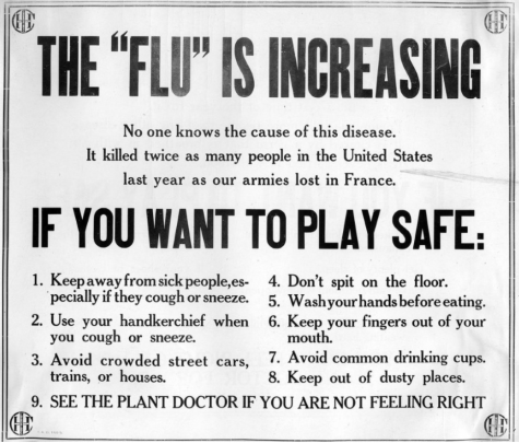 "Poster informing citizens on how to ""play it safe"" during the pandemic."